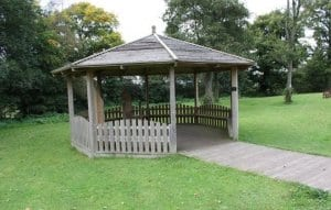 Ferne Animal Sanctuary gazebo and chair